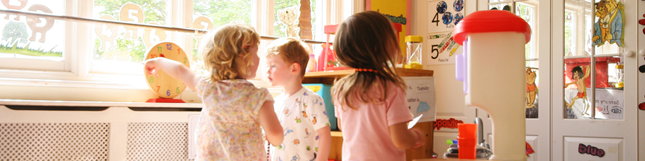 Children playing in one of the nursery playrooms