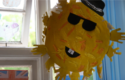 Sunshine art made by children at the nursery